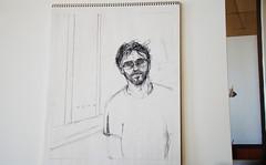 Self Portrait Sketch (limeadeStudio) Tags: usa nc brevard