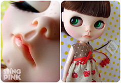 28. Custom Blythe Doll - Neo Blythe University of Love with Simply Chocolate scalp