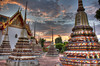 Colourful Temples At Sunset (JonathanStainton) Tags: sunset clouds asian thailand temple bangkok vibrant calming wideangle wat hdr asean watpho settingsun photomatix colourfulcolorful
