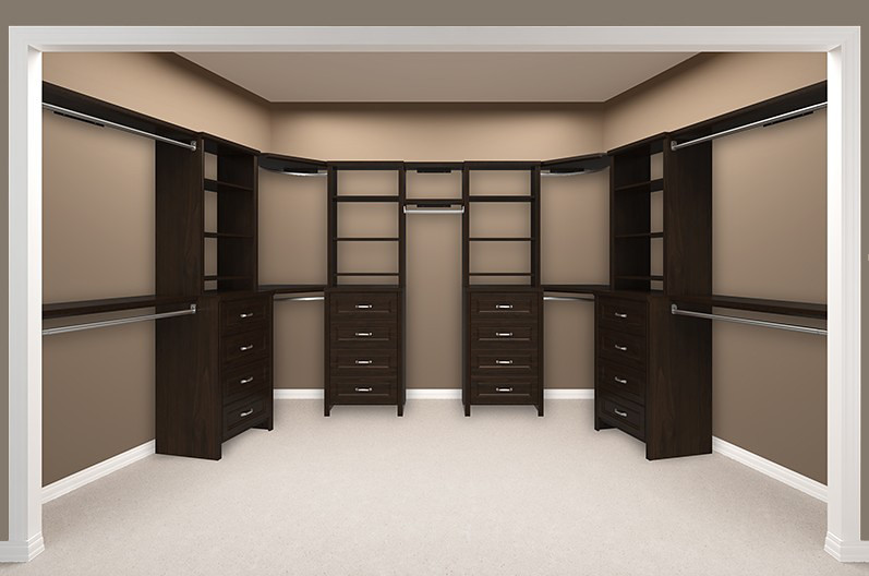 Impressions Walk In Chocolate Bedroom 6 Empty (ClosetMaid) Tags: Bedroom  Chocolate Finish