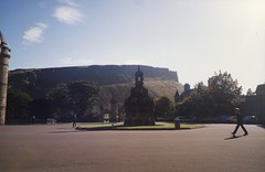 Holyrood Palace Fountain (cletch) Tags: uk scotland edinburgh palace together holyroodpalace sept1989 oct1989