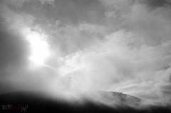 Manic-5 (5) (WhiteFlowersFade) Tags: voyage morning travel sky blackandwhite bw canada fog clouds landscape nikon noiretblanc quebec dam roadtrip ciel qubec nuages paysage brouillard barrage brume matin ctenord manic5 hydrolectricit manicouagan d7k d7000 centralehydrolectrique