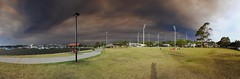 Drummoyne oval springwood fire smoke (mic_68) Tags: panorama clouds smoke innerwest oval sydneyharbour drummoyne sydneysunset