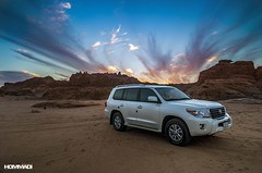 LAND in DESERT (Mohammed Hommadi   ) Tags: car landscape desert 4x4 land landcruiser