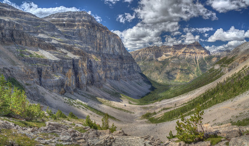 View down the valley from Stanley Glacier, Kootenay Park