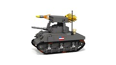 T40 Whizbang (Florida Shoooter) Tags: lego ww2 rocketlauncher ldd m4sherman lddtopovray vision:text=0561 vision:outdoor=0941 t40whizbang
