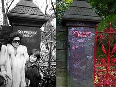 Strawberry Fields Gates, Woolton, 1984 and 2013 (Keithjones84) Tags: liverpool beatles yoko lennon johnlennon yokoono thebeatles thenandnow merseyside strawberryfieldsforever strawberryfield oldliverpool