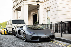 Arabs (Alex Penfold) Tags: london cars alex car yellow grey mercedes benz italia cream super ferrari arabic arab kuwait lamborghini supercar matte kuwaiti amg supercars arabs penfold 458 2013 g63 aventador