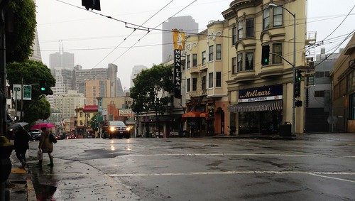 San Francisco on a rainy day