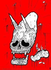 Annunaki Skull (VLCERS) Tags: art illustration artwork artist drawing alien astronaut satan demon devil illustrator illuminati annunaki vlcers iheartvlcers