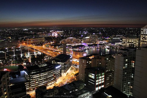 Merry Christmas!! Sydney Australia darling harbour and city nightscape