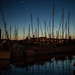 https://www.twin-loc.fr Le port d'Hendaye au coucher du soleil - Arbor sunset