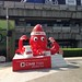 The Christmas octopus from CIMB bank in front of Siam Paragon shopping center, Bangkok, Thailand