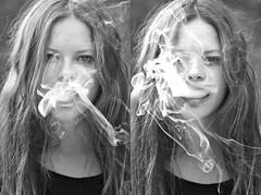 smoke (janaorzech) Tags: summer portrait girl 35mm hair pretty smoke grunge badass smoking