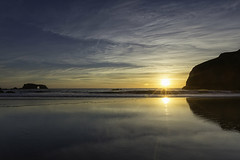 New Horizons (Bill Shupp) Tags: ocean california sunset sky reflection water clouds waves arch sonoma coastline goatrockbeach canon6d