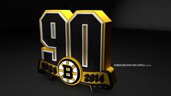 Boston Bruins  90th Anniversary Logo