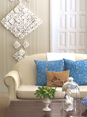 Origami Wall Art (freshlyfound) Tags: africa blue art vintage paper found south hanging fold freshly reycled kzn