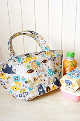 Original Japanese Kokka Fabric Insulated Lunch Bag (cottonblue) Tags: school food cute animal japan kids cat bag children lunch japanese diy picnic drink handmade foil sewing mommy craft sandwich fabric pouch kawaii bento nordic etsy lunchbox scandinavia tote aluminium lunchbag insulated formular sandwichbag foodbag kokka snackbag