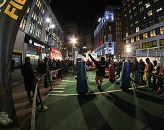 Super Bowl Boulevard (@harryshuldman) Tags: new york city nyc canon rebel football boulevard manhattan nfl super bowl fisheye midtown national futbol 8mm league t3i norteamericano rokinon