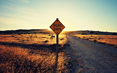 Fin. (FlavioSarescia) Tags: travel sunset sunlight signs nature sunshine landscape australia roadtrip ontheroad hss