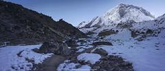 Blue Nuptse | Nuptse (francisling) Tags: morning nepal mountain m1 hiking x fisheye climbing fujifilm himalaya 8mm everest range  nuptse  umc   lobuche xm1 samyang