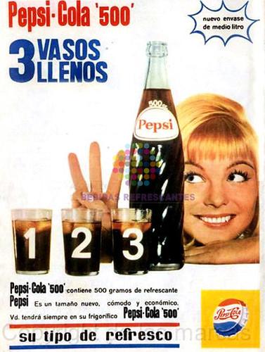 """Pepsi. """"Su tipo de refresco"""". Años 60"""