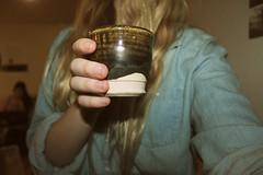 little muggie (riseuplilac) Tags: ceramics jean glaze clay mug braun kiln schwartz dunkel