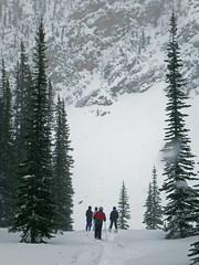 Exploring Feuz Bowl (DCZwick) Tags: trees winter snow canada ski mountains golden skiing bc britishcolumbia rockymountains skiers canadianrockies khmr kickinghorsemountainresort feuzbowl pentaxwgii