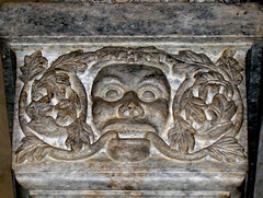 Bergamo - Green Man in the church of Santa Maria Maggiore (julianna.lees) Tags: man green bergamo