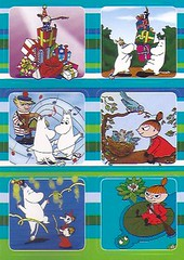 Moomin Sticker-Postcard 3 (stamp_aria) Tags: sticker postcard moomin