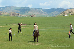 In the Terelj area - a selection of sporting activities (10b travelling / Carsten ten Brink) Tags: horse sports sport ball football asia mongolia badminton handball ulaanbaatar 2012 horseriding terelj mongolei carstentenbrink iptcbasic 100monkscave