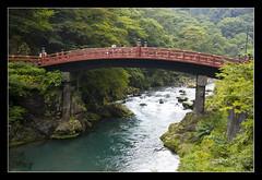 Futarasan jinja @Nikko, Japan (brunombo) Tags: travel bridge red verde green water japan river shrine pentax fiume ponte nikko tamron acqua rosso viaggio giappone futarasanjinja daiyariver sacredbridge tamronaf18250mmf3563diiildasphericalifmacro justpentax