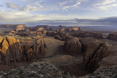 Monument Valley Sunrise II (RichJPowell) Tags: arizona usa monument sunrise canon landscape desert valley mesa hunts