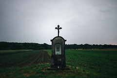(Vedran F.) Tags: color green digital dark landscape lumix photography cross 28mm religion christian 14mm gf2 panasoniclumixdmcgf2 panasoniclumixg14mmf25asph