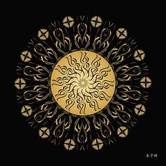 Untitled-954-01 (bennington.alan) Tags: circle asian indian mandala symmetrical geometrical meditation spiritual multicolored hindu healing artprints abtracctmandala