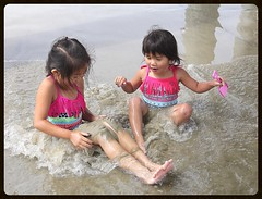 Andrea and Stella at Huntington Beach. (UNTIL THEN .......) Tags: ca stella girls beach children fun andrea huntingtonbeach