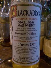 Bowmore 1989 10yo 64.4% BLACKADDER (eitaneko photos) Tags: tokyo bottle december single whisky 1989 cl bowmore malt 2014 blackadder 644 10yo