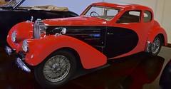 Bugatti Type 57 SC (fossiled) Tags: flagged bugatti bugattitype57 supercharged red black artdeco supercar french 1938 coupe
