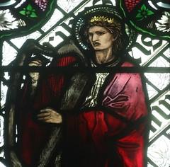 [45614] St Editha, Tamworth : King David (Budby) Tags: tamworth staffordshire church window stainedglass preraphaelite