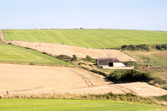 #Purbeck Hills in #Dorset (Joe Dunckley) Tags: dorset england isleofpurbeck purbeck purbeckhills uk agriculture arable bales barn cereal crop farm farming field hay haybales hill landscape nature old traditional wheat