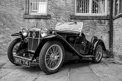 MG PA Monochrome (jackharrybill) Tags: mg mgpa car motor blackandwhite monochrome vintage police