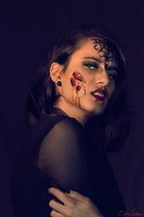 343/365 (Sariixa) Tags: selfportrait autorretrato autoportrait portrait retrato girl chica halloween terror pain hurt burn face makeup blood sangre 365 sarixa photoshop photography art