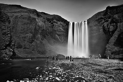 Some ghosts of the waterfall (Sizun Eye) Tags: longexposure poselongue skogafoss waterfall cascade chutes falls spirits ghosts fantmes leebigstopper leefilters lee 10stops nd1000 paysage iceland islande northerneurope europedunord sizuneye sizun nikond750 tamron2470mmf28 2470mm tamron d750 landscape landmark bw nb monochrome