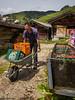 Pertisau July 2014 (Cerdic Elesing) Tags: groupofpeople alm austria beer cooling dalfazalm man maurach men trough water wheelbarrow tyrol