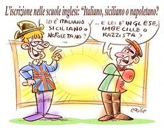 AnglItal (Moise-Creativo Galattico) Tags: editoriali moise moiseditoriali editorialiafumetti giornalismo attualit satira vignette italia sicilia campania inghilterra razzismo