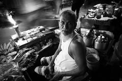 'Cha wala' (haqiqimeraat) Tags: teashop bangladesh dhaka blackwhite monochrome portr portraiture portrait people man
