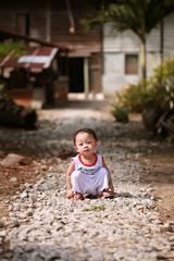 His favourite pose (fhatiahsariaat) Tags: toddler boy tinggung kampung village desa brown