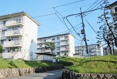 Koridanchi District 1762 (Tangled Bank) Tags: koridancho hirakata japan japanese asia asian town city suburban residential buildings architecture structure condominium apartment