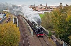 chester spires (midcheshireman) Tags: steam train locomotive castle cheshire 50xx 5043 earlofmountedgecumbe chester bridge
