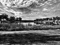 Spring Lake, Michigan (Dennis Sparks) Tags: westernmichigan blackwhite iphone lake michigan springlake fruitport